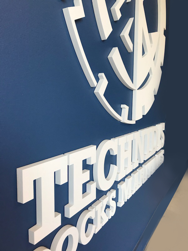 Logo en relief Technidis - Client Cigne