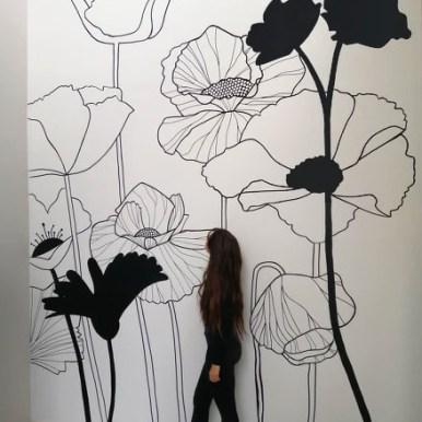 Artiste © Elodie Buisson - Fleurs graphiques monochrome