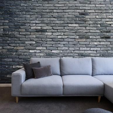 Papiers peints Briques gris-bleu