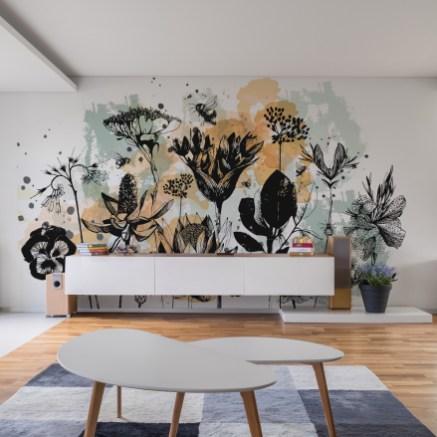 Papier peint panoramique Fleurs des champs- Silowane