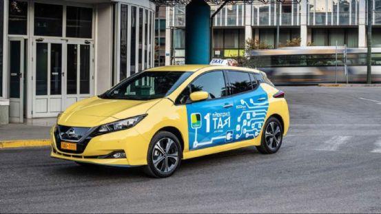 """Το 1ο """"e-Taxi"""" από τη Nissan Taxiplon!"""
