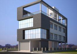 Front Elevation of spyn Office 3D