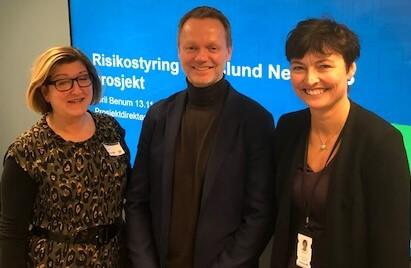 Fra venstre: Bjørg Sandal (Proactima), Jens Thomas Sagør (Proactima) og Toril Benum (Hafslund).