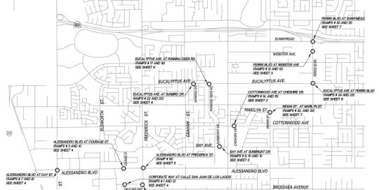 Cycle 5 ADA Ramp Improvements Public Works Survey And Mapping