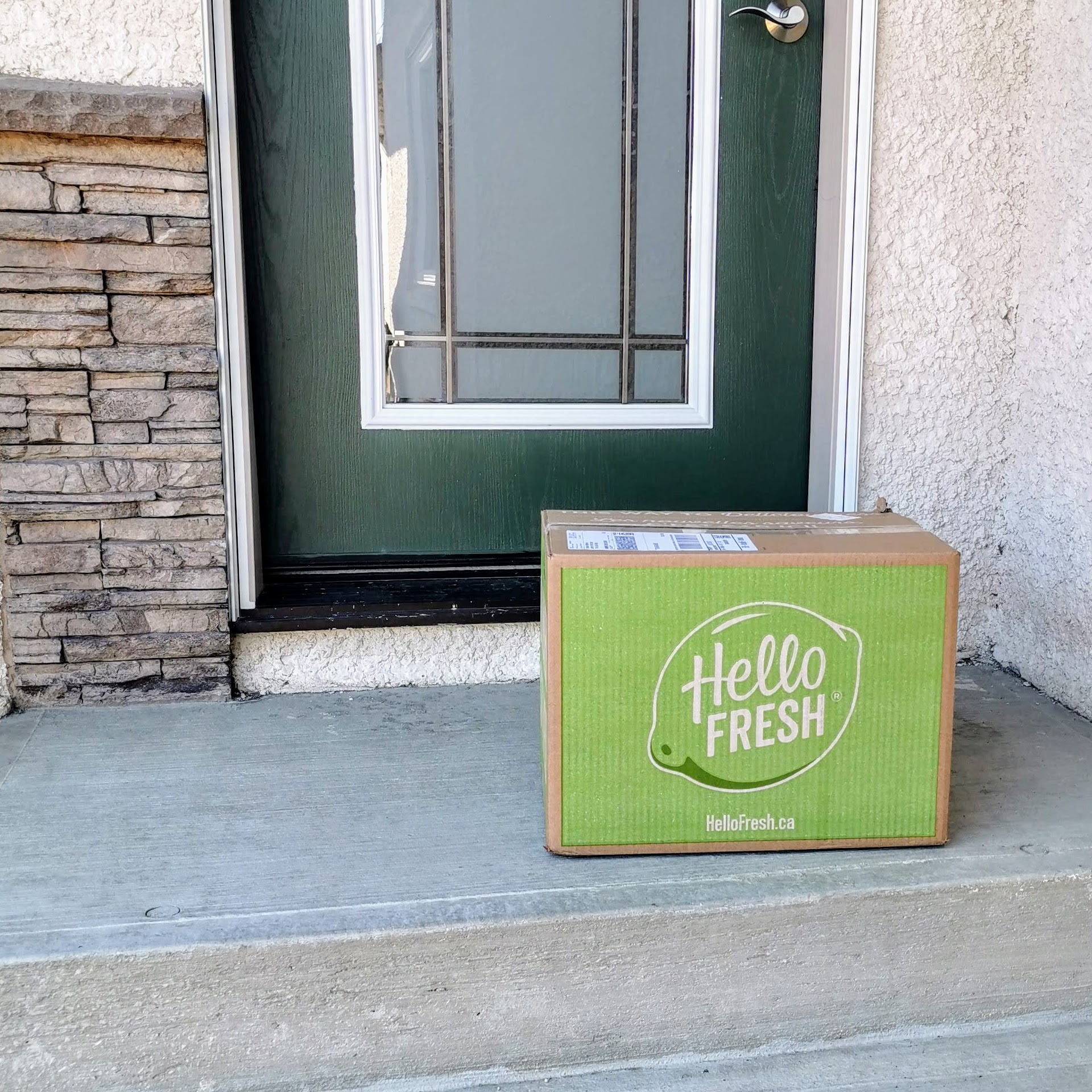 The Hello Fresh Box Delivered