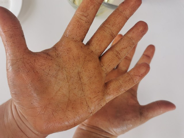 cinnamon hands