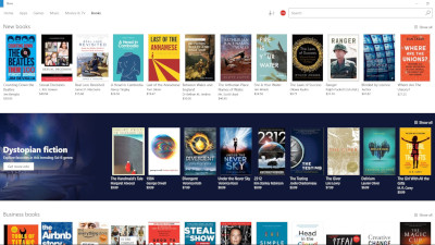 Image: Microsoft e-book store on Edge
