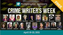 Attending ProWritingAid Crime Writer's Week