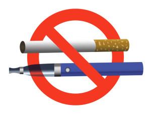 no smoking no vaping sign ban cigarette and electronic cigarette