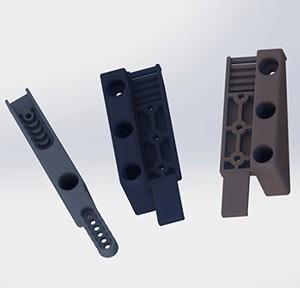 hliníkové plotové výplně - montážní konzole - LEVÁ - pro okenicové ploty