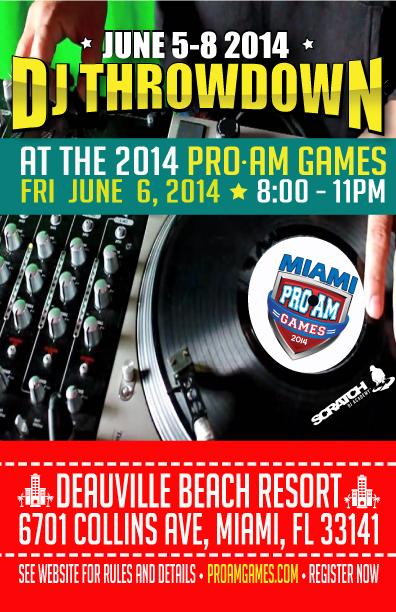 Miami Dj Battle ProAm Games 2014
