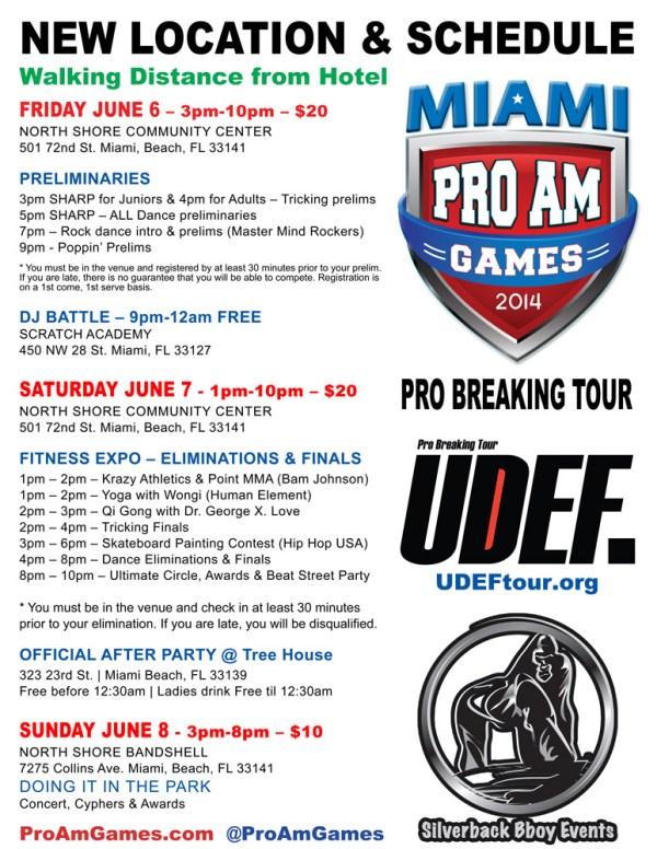 MiamiProAm 2014 - Schedule