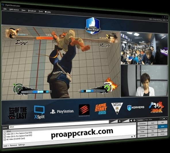XSplit Broadcaster Crack Download