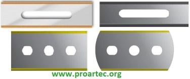 ceramic and tin blades