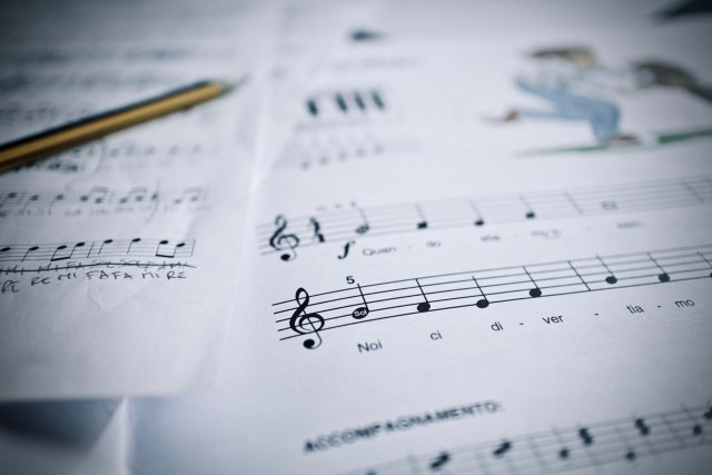 score, music, piano