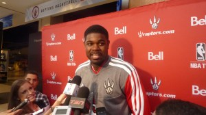Amir Johnson in scrum