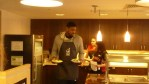Amir Johnson carrying food