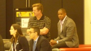 Raptors GM Masai Ujiri watches pre-draft workout