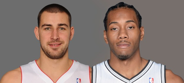 Valanciunas and Leonard