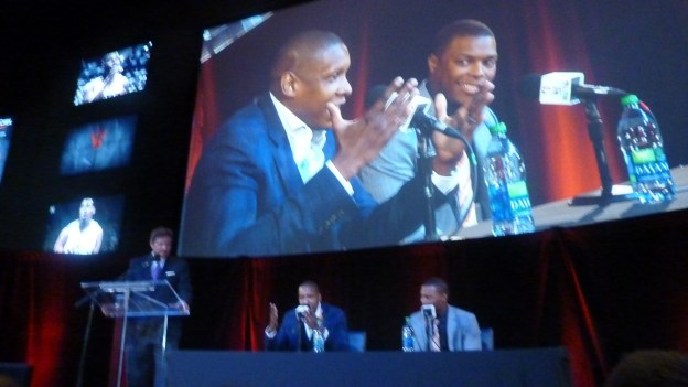 Ujiri speaks & Lowry smiles