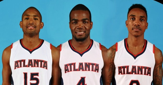 NBA Atlanta Hawks Al Horford Paul Millsap & Jeff Teague