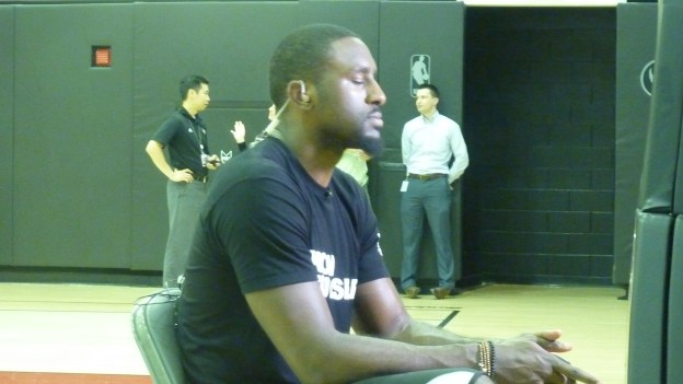 Patrick Patterson sitting facing right