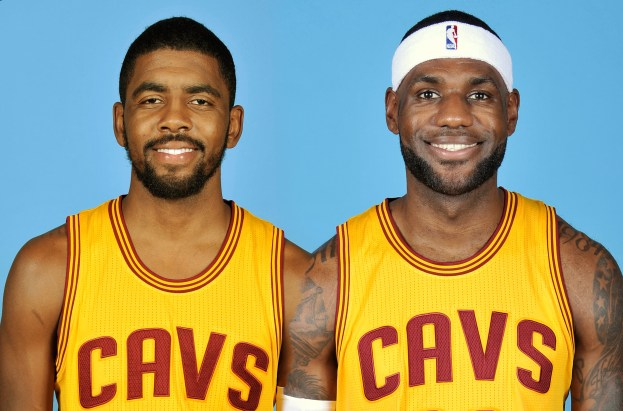 NBA Cleveland Cavaliers LeBron James and Kyrie Irving