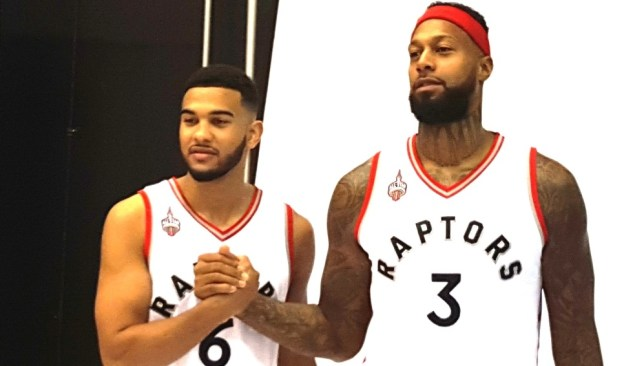 NBA Toronto Raptors James Johnson and Cory Joseph