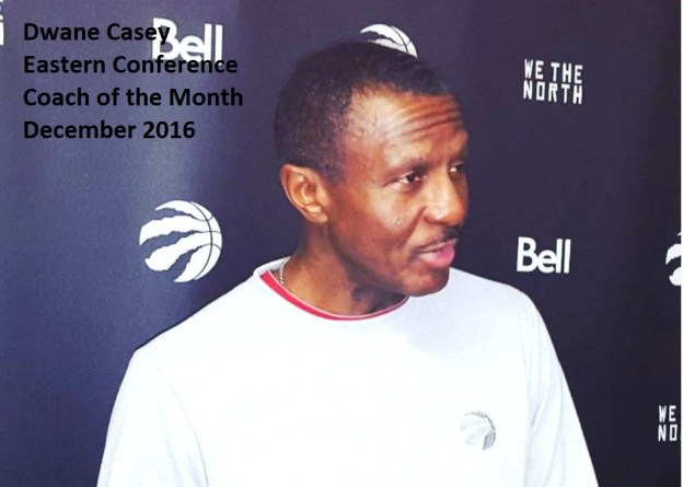 NBA Coach of the Month for December 2016 Dwane Casey