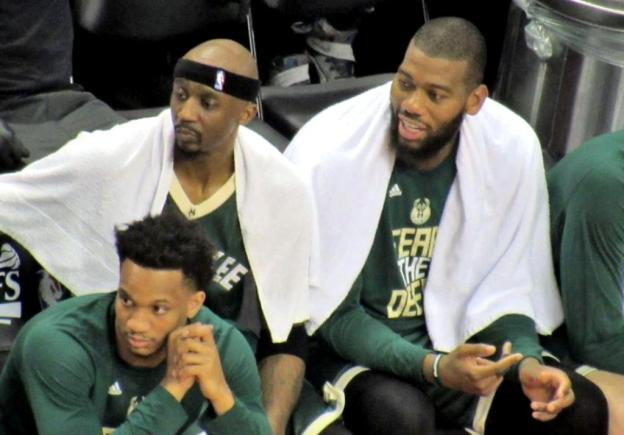 NBA Milwaukee Bucks Jason Terry and Greg Monroe