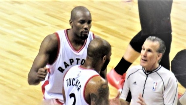 NBA Toronto Raptors P.J. Tucker and Serge Ibaka