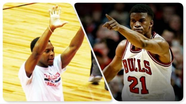 NBA Toronto Raptors Kyle Lowry and Chicago Bulls Jimmy Butler