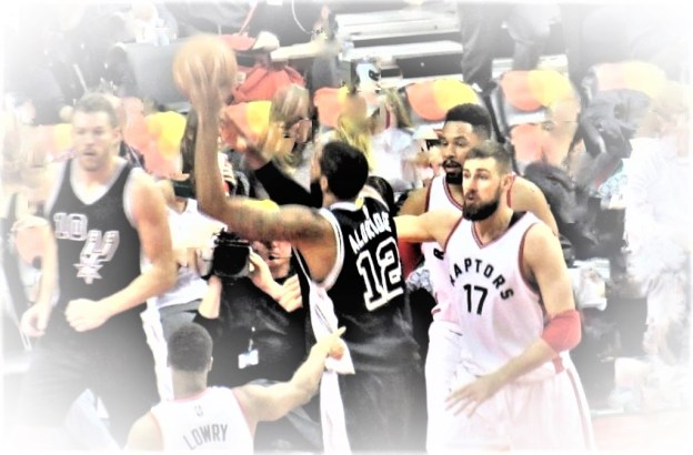 NBA San Antonio Spurs LaMarcus Aldridge and Toronto Raptors Jonas Valanciunas