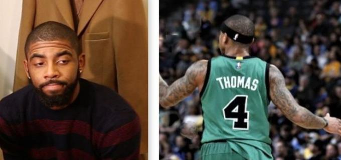 NBA Cleveland Cavaliers Kyrie Irving and Boston Celtics Isaiah Thomas