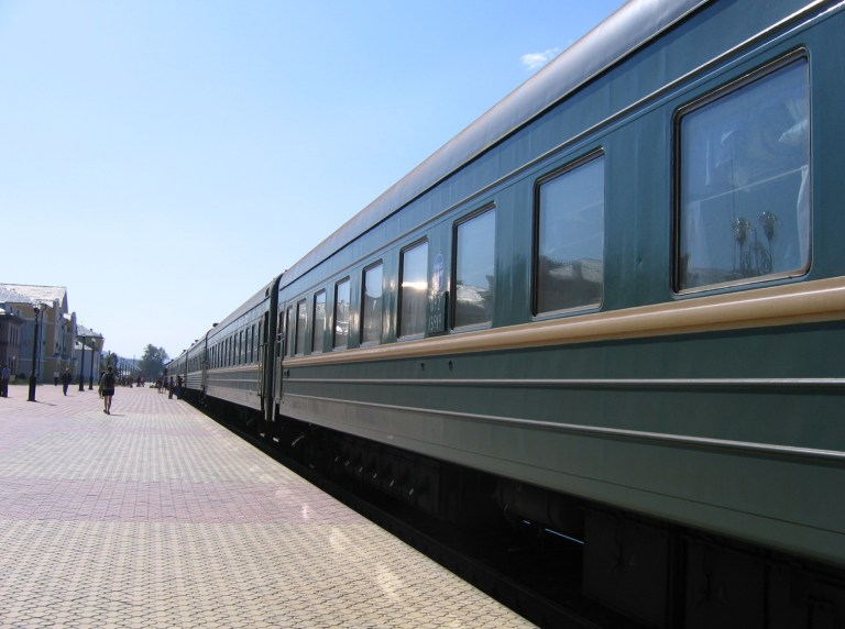 The train to travel the Trans-Mongolian Railway