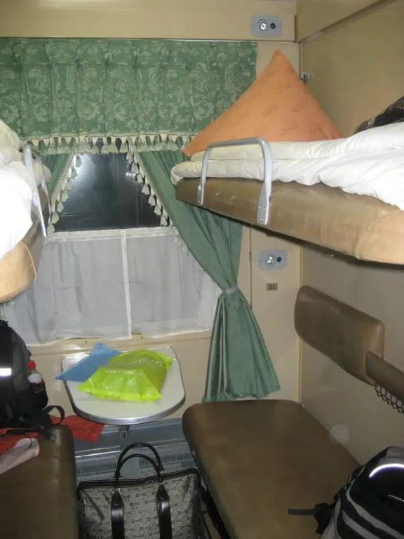 2nd class 4 berth sleep to travel the Trans-Mongolian Railway