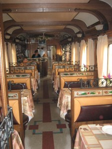 The diner inside the Trans-Mongolian Railway. A great place to meet friends