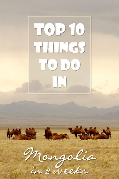 Who doesn't want to travel to Mongolia? Ger tents, camels, the Gobi desert and the Mongolian people. What else is there to see and do? Check this suggested itinerary with things to do in Mongolia in 2 weeks.