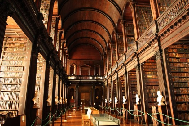 go to Dublin in December and visit Trinity Library