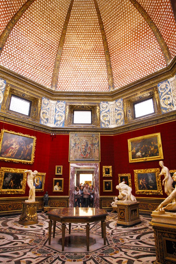 The Tribune room in the Uffizi museum in Florence