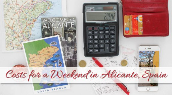 Costs for a weekend in Alicante Spain