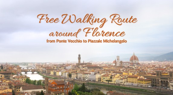 Free walking route around Florence
