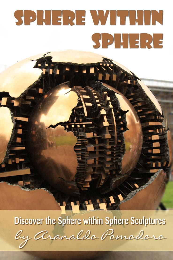 The Sphere within Sphere sculptures are made by Italian Artist Arnaldo Pomorodo. I share a few amazing instagram pictures of this art from around the globe. Check which one is closest to you and go see for yourself.
