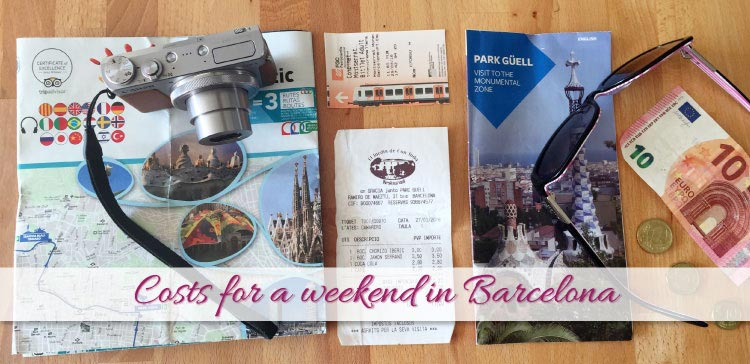 Costs for a weekend in Barcelona