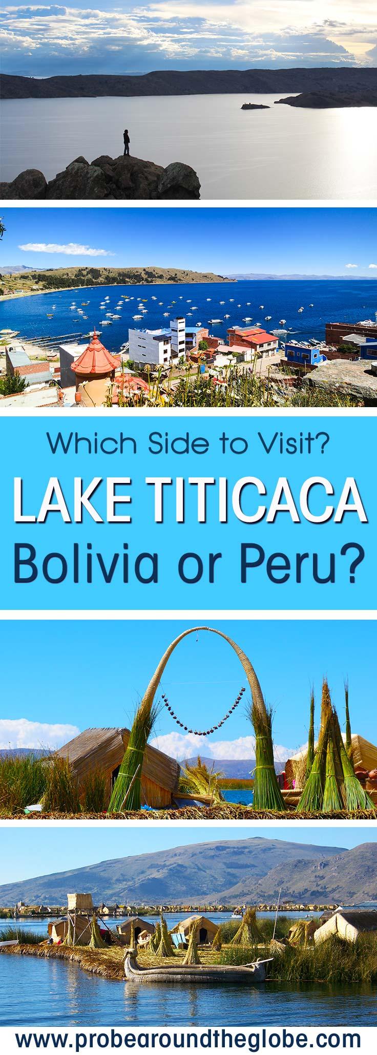 Which side of Lake Titicaca should you visit? The Peruvian or Bolivian side of Lake Titicaca? I visited both and I share the things to see from Copacabana and Isla del Sol in Bolivia and how to see the Uros Islands in Peru. I compare costs and help you decide.