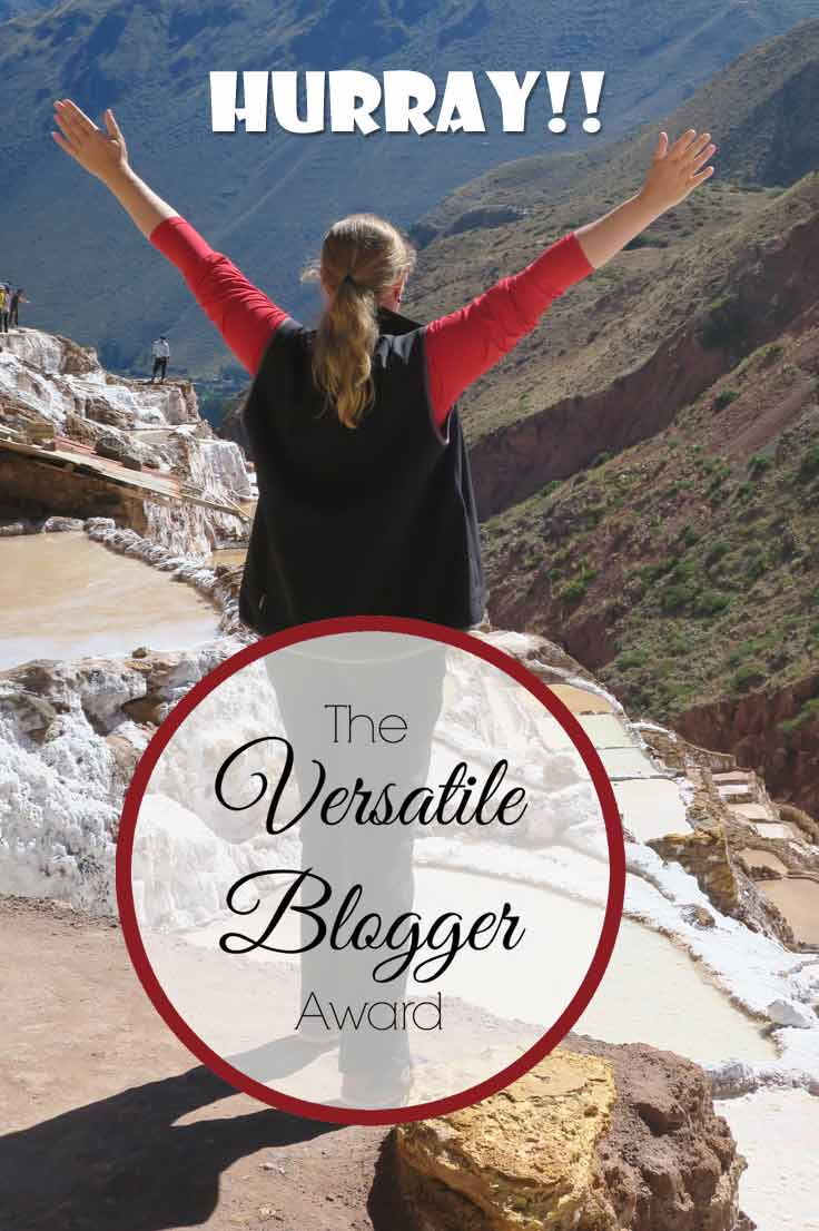 My travel blog is nominated for the Versatile Blogger Award. Get to know Probe around the Globe and read who I nominate for the Versatile Blogger Award.