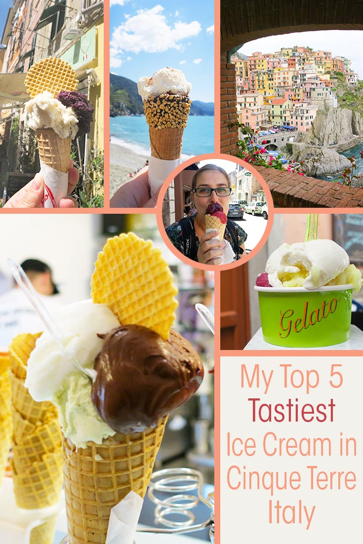 When you visit the 5 villages of Cinque Terre Italy you must try some gelato. But where to find the tastiest ice cream in Cinque Terre? I give you my top 5.