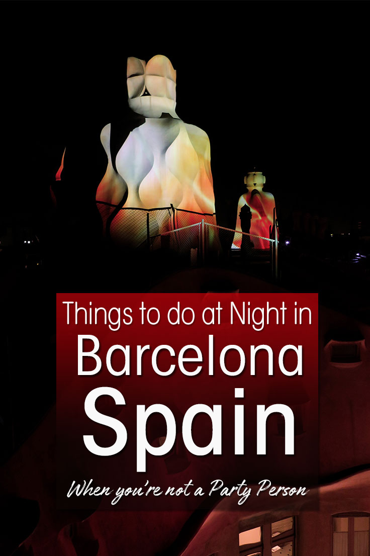 What are the things to do in Barcelona at night in winter when you're not a party person? I give you the best cultural winter night activities in Barcelona. #barcelona
