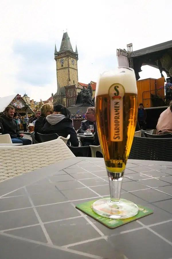 Czech beer at Prague Easter Markets