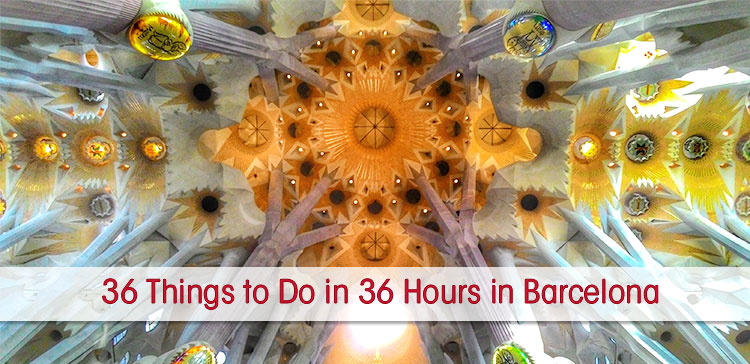If you plan a short trip to Barcelona you might wonder if it is enough? I found 36 amazing things to do in 36 hours in Barcelona Spain.